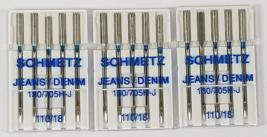 Schmetz Denim  Jeans Machine Needles Size 110/18 - $9.30