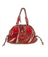 Francesco biasia red patent leather satchel handbag shoulder - $228.82