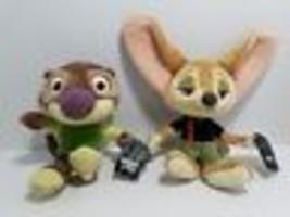 2 Tomy Disney Zootopia Small Plush Stuffed Finnick Mr Otterton - $9.69