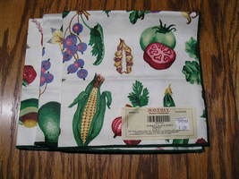 4 Waverly Home Fashions Market Place Poppy Napkins 100% Cotton MADE IN U... - $10.99