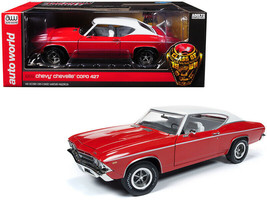 1969 Chevrolet Chevelle COPO Garnet Red w/white top Class of 68 1/18 1002 - $106.95