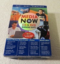 Media Now CD & DVD Burning Suite Software New - $19.64