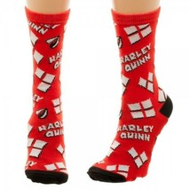 Harley Quinn Heart Logo Crew Dc Comics Socks Nwt - $7.95