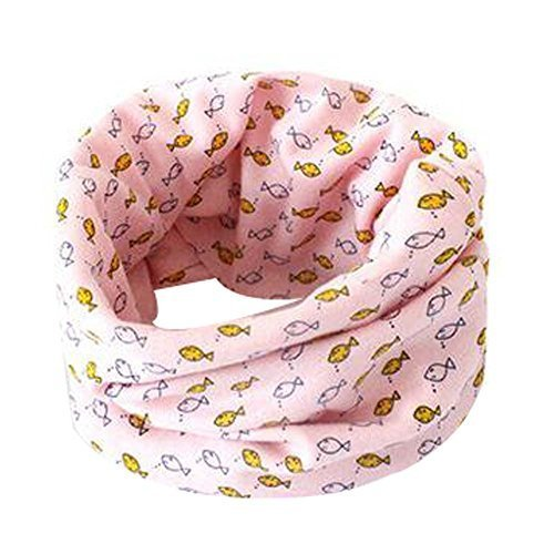 2PCS Bright Color Children Scarves Cartoon Neckerchiefs Warm Cotton Scarves