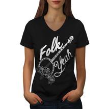 Folk Yeah Shirt Sarcasm Women V-Neck T-shirt - $12.99+