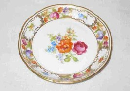 """Gorgeous Vintage 4 1/4"""" Dresden Flowers Bavaria China Plate Germany Schu... - $47.26"""