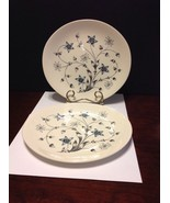 "Johnson Bros ""Titania"" Blue/White Flowers Dinner Plate Lot Of 2 Made In ... - $30.00"