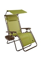 Bliss Hammocks Zero Gravity Chair with Canopy and Side Tray, Sage Green,... - $110.68