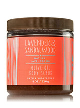 BATH & BODY WORKS Lavender & Sandalwood 8.0 Ounces Olive Oil Body Scrub - $17.08