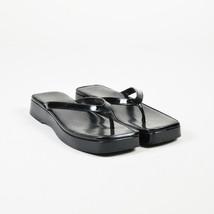 561213943 Gucci Black Patent Leather Platform Thong Sandals SZ 5.5 - £66.36 GBP