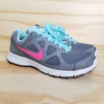 Nike Revolution Women's Running Shoes Size 8.5 Gray White Mesh Laces Sne... - $21.77