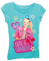 NWT JoJo Siwa Tahiti Blue Cute & Confident Teal Tee Shirt Sizes 5 6 6X - $9.99