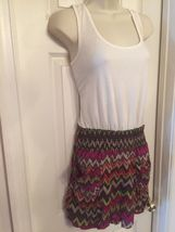 Derek Heart Jumper Romper Multi Color Chevron Print Size Medium M - $9.99