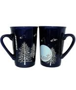 Pair 2019 Starbucks Cobalt Blue Hammock Reindeer Christmas 10 oz Coffee ... - $54.99