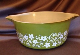 Pyrex 1950s Spring Blossom Cinderella # 475 B 2.5 QT Quart Casserole Dish Bowl - $11.27