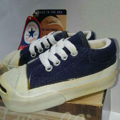 CONVERSE JACK PURCELL OX 90's Vintage Sneakers Shoes Dark navy US 4.5 Dead stock