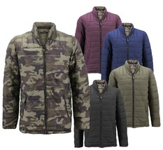 Men's Reversible Camo Lightweight Insulated Quilted Packable Puffer Zip Jacket image 1