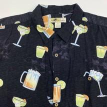 Joe Marlin Button Up Shirt Mens XXL Black Alcohol Graphic Hawaiian Short... - $18.95