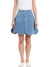 Rider Republic Women's Blue Flare Pleated Skate... - $36.00