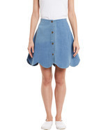 Rider Republic Women's Blue Flare Pleated Skater Skirt  - £27.62 GBP