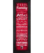 """Carnegie Mellon University """"Tartans""""- 24 x 8 Family Cheer Framed Print - $39.95"""