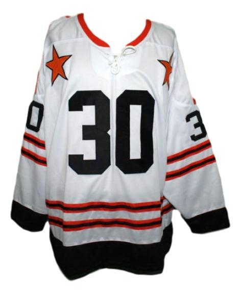 Gerry Cheevers #30 Wha All Star Retro Hockey Jersey New White Any Size