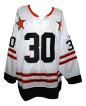 Gerry Cheevers #30 Wha All Star Retro Hockey Jersey New White Any Size image 1