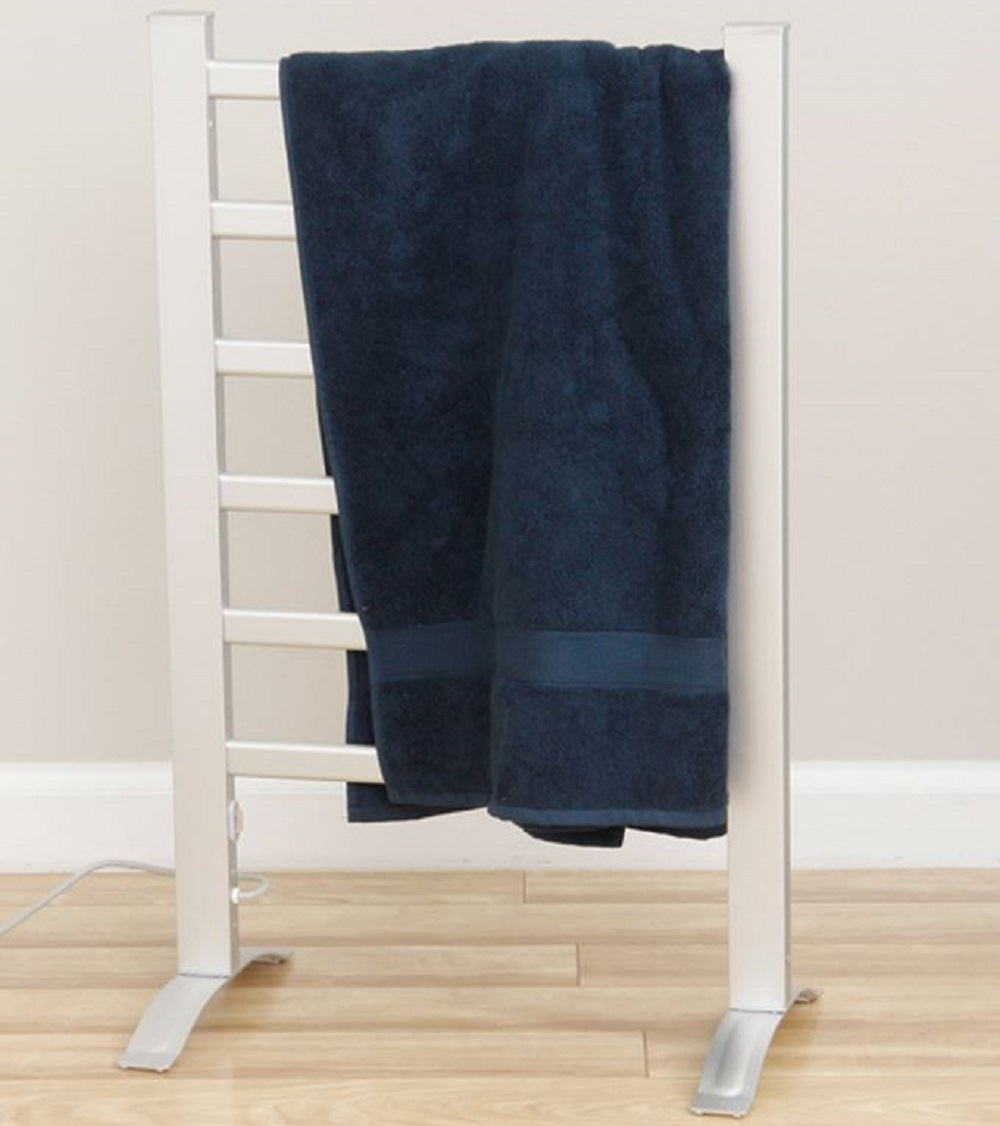 Towel Warmer Freestanding or Wall Drying Warming Rack Bathroom Shower Electric