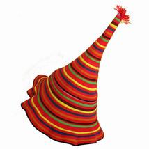 Thai Hat Colorful Hippie Witch Wizard Floppy Festival Costume Clown Part... - $13.45