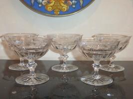 Vintage Kosta Kosta Boda Sweden Champagne Sherbet Glasses Set of 5 - $110.00