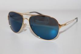 Oakley Caveat Sunglasses OO4054-16 Polished Gold W/ Ice Iridium Lens Aviator - $89.09