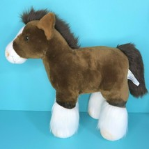 """Build A Bear Clydesdale Horse Pony Brown White 16"""" Plush Stuffed Animal ... - $24.95"""