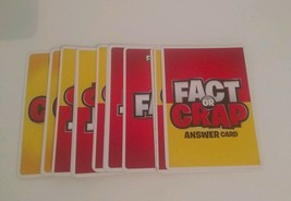 FACT OR CRAP Game replacement pieces parts 16 ANSWER CARDS 2009 - $5.89