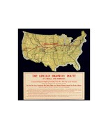 Map of Lincoln Highway; Antique Map by Frank S. Schmid, ca.1914 - $26.72+