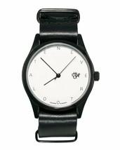 CHEAPO Chpo Never Auch Spät Schwarz Leder Riemen 1422700 Analog Armbanduhr