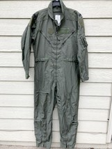 Us Air Force Nomex Fire Resistant Flight Suit Green CWU-27/P - 42R - $39.60