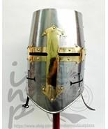 AMedieval Templar Crusader Knight Armor Helmet Spartan Roman Gift Brass ... - $60.00