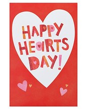 American Greetings Happy Hearts Day Valentine's Day Card with Glitter, 6... - $7.94