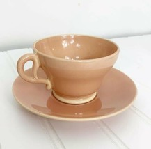 Franciscan EL PATIO CORAL GLOSSY Cup & Saucer Set Of 4 - $38.69