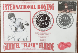 "Gabriel ""FLASH"" Elorde Intl Boxing Hall of Fame May 10 2004 First Day Cover - $8.95"