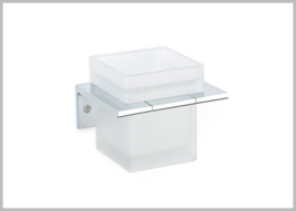 Secret Bath, Frosted Glass Wall Toothbrush Holder, Orio Collection, - $91.99
