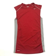 NIKE Pro Compression Shirt  Dry Fit Size Small S Fitted Red Sleeveless T... - $22.58