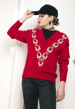 Wool knit jumper - 80s vintage sweater - $40.06