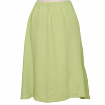 EILEEN FISHER Honeydew Green Crinkle Rayon Flared Hem Skirt S - $79.99