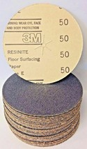 "3M 21019 Resinite Coated Type E 5"" x 1/4"" 50 Grit Floor Surfacing Discs ... - $17.33"