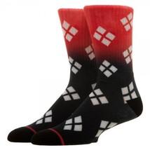 Harley Quinn Ombre Logo Dc Comics Adult Crew Socks - $7.95