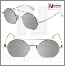 FENDI EYELINE FF0291S Palladium Silver Flash Mirrored Flat Metal Sunglas... - $224.73