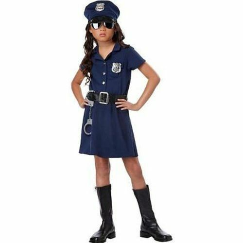 Child Police Officer Kids Cosplay Party Fun Halloween Girls Costume S-Xl 00402