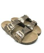 Mudd Womens Copper Double Buckle Side Flat Slide Sandal Shoes Size XL 11... - $17.28