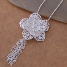 An699 Hot 925 Sterling Silver Necklace 925 Silver Fashion Jewelry Pendant Queenl - $9.82